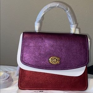 Coach Parker Top Handle In Colorblock bag  Nwt